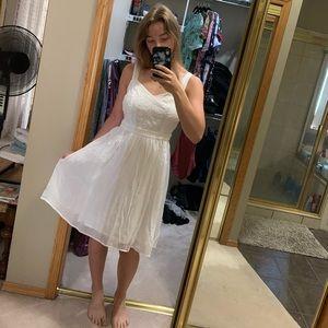 Flowy white sundress